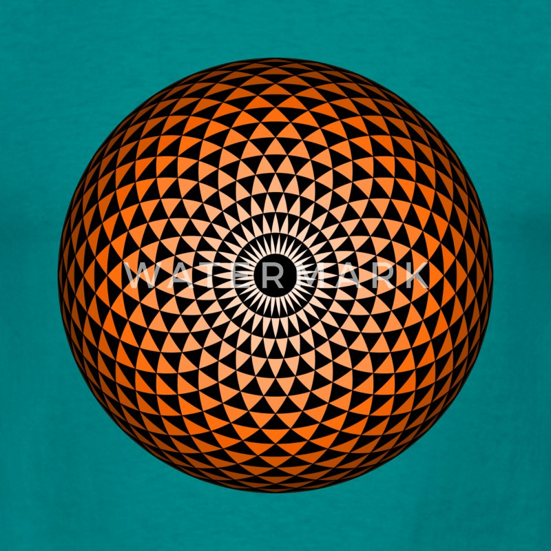 Geometric Mandala eye chestnut brown T-Shirts - Men's T-Shirt