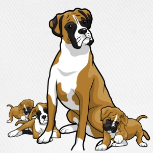 Boxer dog with puppy's - Baseball Cap