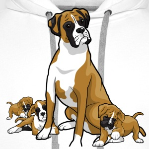 Boxer dog with puppy's - Men's Premium Hoodie