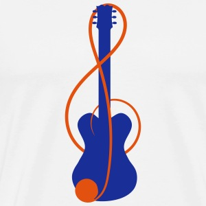 Mousepad with guitar in the clef - Men's Premium T-Shirt