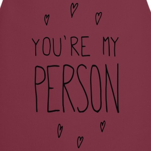 Pastel rood You are my person T-shirts - Keukenschort