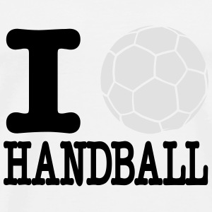 i love handball ball 2c Topper - Premium T-skjorte for menn