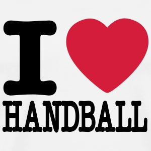 i love handball heart Topper - Premium T-skjorte for menn