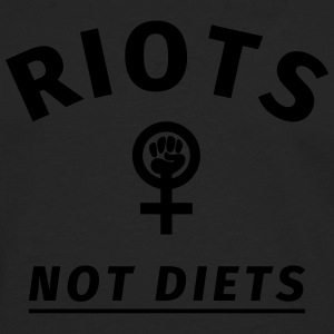 Riots not Diets T-Shirts - Men's Premium Longsleeve Shirt