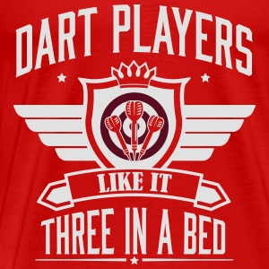 Dart players like it 3 in a bed Tops - Mannen Premium T-shirt