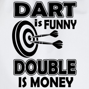 Dart is funny double is money Canotte - Sacca sportiva