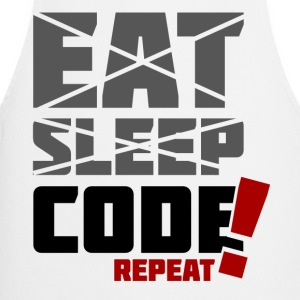 Eat, sleep, code repeat - Fartuch kuchenny