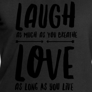 Laugh - Love T-shirts - Mannen sweatshirt van Stanley & Stella