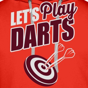 Let's play darts T-Shirts - Men's Premium Hoodie