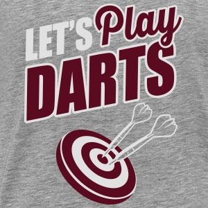 Let's play darts Top - Maglietta Premium da uomo
