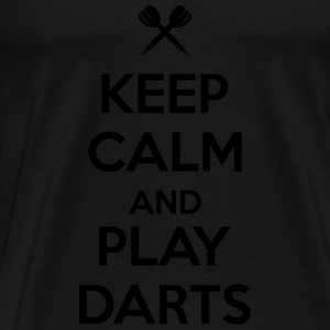 keep calm and play darts Top - Maglietta Premium da uomo
