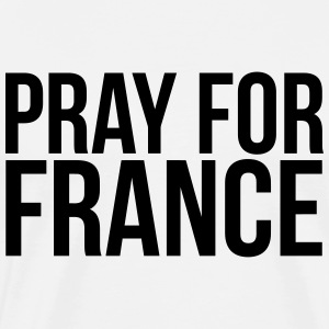 PRAY FOR FRANCE   Aprons - Men's Premium T-Shirt