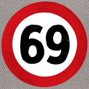 69 Traffic Road sign - Snapback Cap