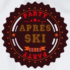 Apres Ski Party Logo Buttons - Drawstring Bag