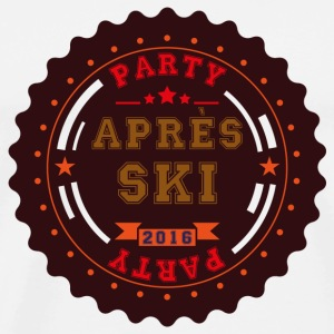 Apres Ski Party Logo Buttons - Men's Premium T-Shirt