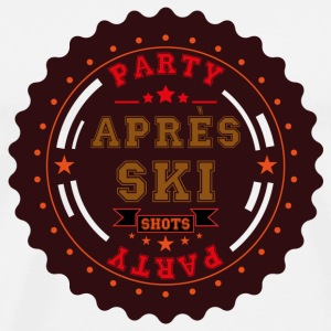 Apres Ski Shots Logo Buttons - Men's Premium T-Shirt