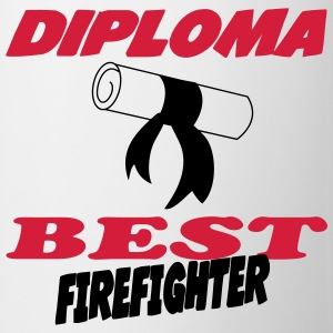 Diploma best firefighter T-shirts - Kop/krus