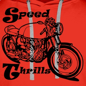 Speed Thrills - Sweat-shirt à capuche Premium pour hommes