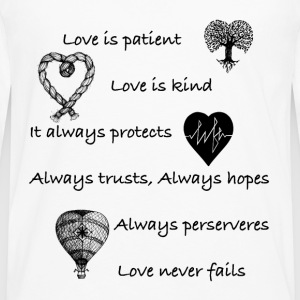 Love is patient..(with hearts) - Men's Premium Longsleeve Shirt