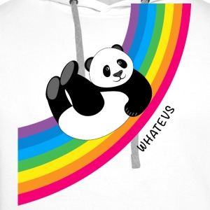 Panda sliding down rainbow...Whatevs! - Men's Premium Hoodie