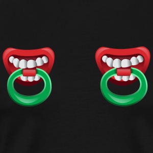 Nipple Rings with teeth Sports wear - Men's Premium T-Shirt
