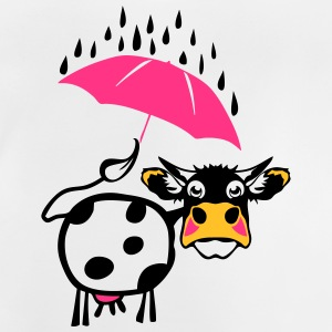 Cow drawing umbrella 1301 Shirts - Baby T-Shirt