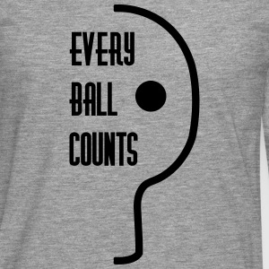 table tennis: every ball counts T-shirts - Mannen Premium shirt met lange mouwen