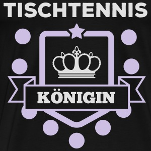 Bordtennis dronning Toppe - Herre premium T-shirt