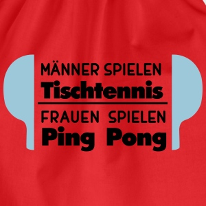 Ping-pong = uomini, ping-pong = donne Magliette - Sacca sportiva