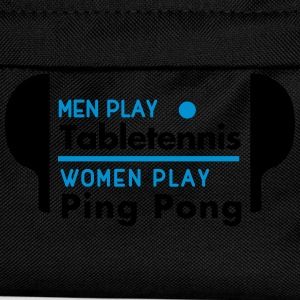 men play table tennis women play ping pong T-shirts - Rugzak voor kinderen
