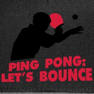 ping pong let's bounce Camisetas - Gorra Snapback