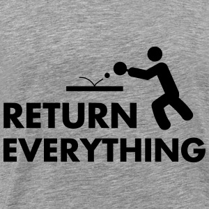 table tennis: return everything Tops - Männer Premium T-Shirt