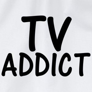 tv addict T-Shirts - Drawstring Bag