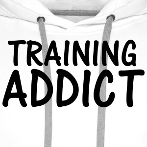training addict T-Shirts - Men's Premium Hoodie