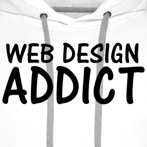 web design addict T-Shirts - Men's Premium Hoodie