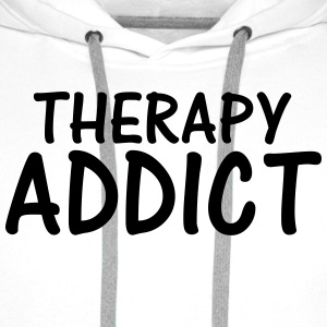 therapy addict T-Shirts - Men's Premium Hoodie