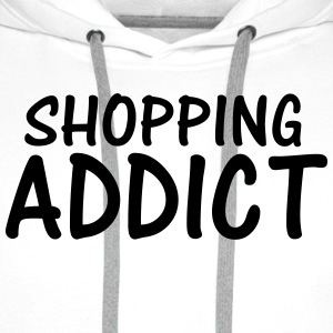 shopping addict T-Shirts - Men's Premium Hoodie