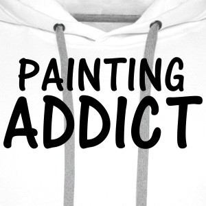 painting addict T-Shirts - Men's Premium Hoodie