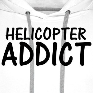 helicopter addict T-Shirts - Men's Premium Hoodie