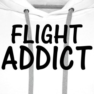 flight addict T-Shirts - Men's Premium Hoodie