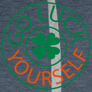 Go luck yourself st.Patty's day Men's V-Neck T-S - Men's Premium Hoodie