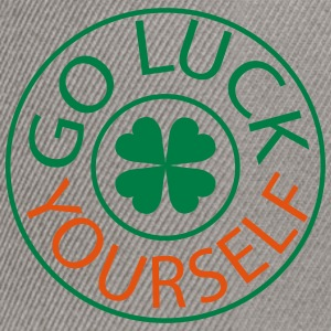 Go luck yourself st.Patty's day Men's V-Neck T-S - Snapback Cap