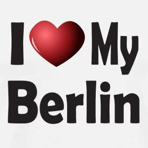 I Love My Berlin Mugs & Drinkware - Men's Premium T-Shirt