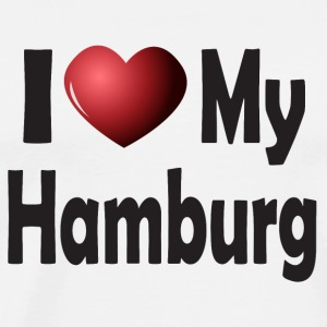 I Love My Hamburg Mugs & Drinkware - Men's Premium T-Shirt