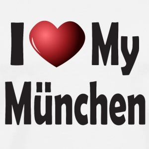 I Love My Munich Mugs & Drinkware - Men's Premium T-Shirt