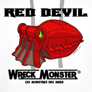 Red Devil - Sweat-shirt à capuche Premium pour hommes