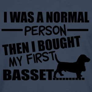 Normal Person - Basset T-shirts - Herre premium T-shirt med lange ærmer