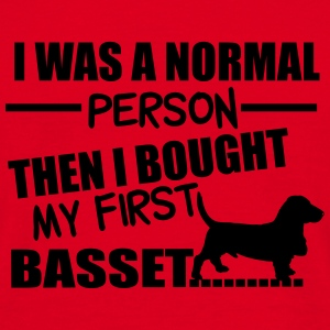 Normal Person - Basset Tassen & rugzakken - Mannen T-shirt