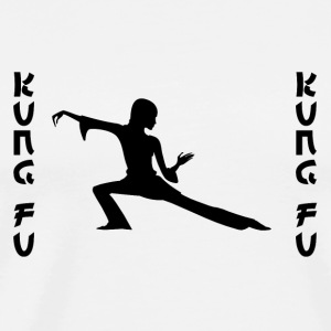 Kung Fu black Mugs & Drinkware - Men's Premium T-Shirt
