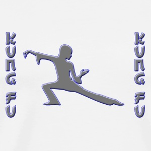 Kung Fu silver-blue Mugs & Drinkware - Men's Premium T-Shirt